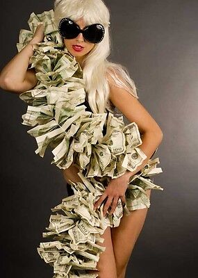 Lady Gaga Style Pop Star Money Boa