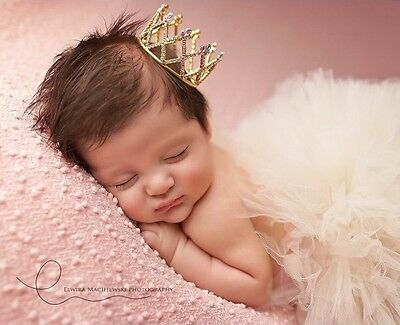 Baby Newborn Princess Crystal Rhinestone Mini Crown Tiara  Photography Prop
