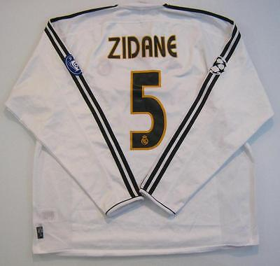 Maglia Real Madrid Zidane 2004 Champions League Shirt Real Madrid Camiseta Match