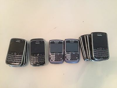 Lot of 13 blackberry 9650, 9630, , 9000, for parts or repairs ASIS