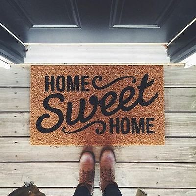 Natural Coir Non Slip Floor Entrance Door Mat Outdoor Doormat Home Sweet Home Bk