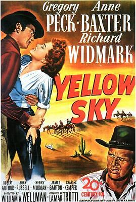 Yellow Sky Movie POSTER 11 x 17 Gregory Peck, Anne Baxter, LICENSED NEW