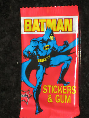 BATMAN 1989 Dandy Bubble Gum Trading Sticker Cards Pack unopened Aust Vintage