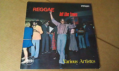 REGGAE HIT THE TOWN  (PAMA LP) trojan  2 two tone pat kelly justin hinds