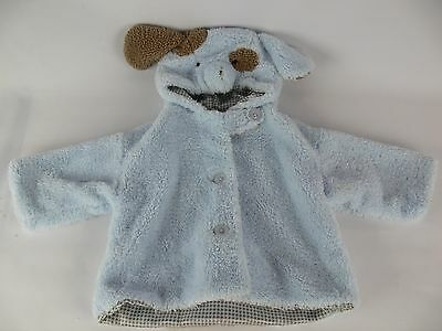 Bearington Baby Collection Blue Puppy Dog Child Coat Warm Jacket 6-12 Months EUC