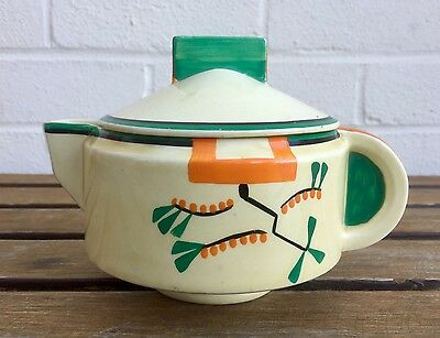 Clarice Cliff -Ravel Design Odilon Lidded Sauce Dish- Wilkinson Bizarre Pot Jug