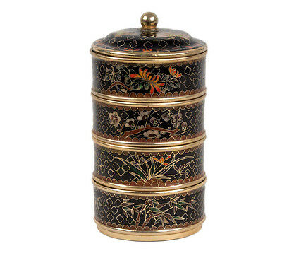 China 20. Jh. Dose - A Chinese Cloisonne Enamel Food Container - Chinois Cinese