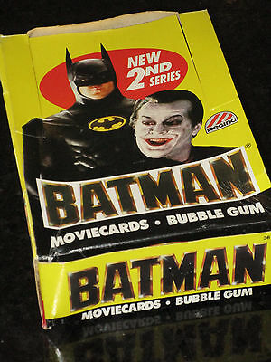 Batman Regina 1989 Bubble Gum Movie Cards empty counter top display box Series 2