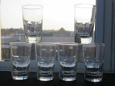 Vintage Beautiful Design Glass Tumblers Set Of 6