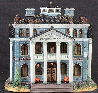 Lemax Spooky Town Shady Hollow Funeral Parlor Halloween House Porcelain 2000
