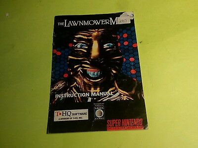 The Lawnmower Man - Super Nintendo SNES - Manual Only!
