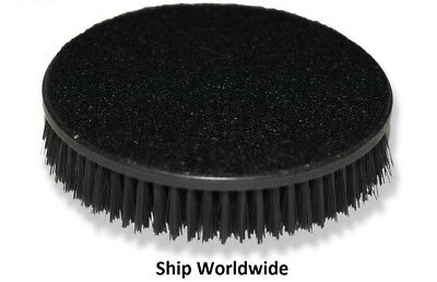 """2x Carpet Upholstery Mat 5"""" Round Spinner Brush Hook-N-Loop Backing Attachment"""