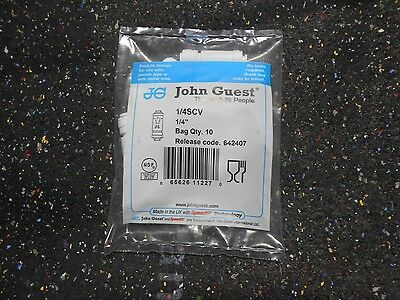 "( 10 each ) John Guest 1/4SCV 1/4"" Inline Push Fit Water Single Check Valve"