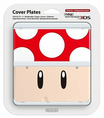 Official New Nintendo 3DS Cover Plate Red Toad Super Mario 1UP Mushroom