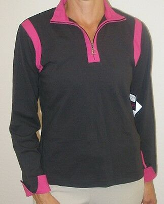 """Connoisseur """"Equestrian Collection"""" Cappucino Athletic Pullover Top - MSRP $59!!"""