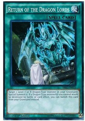 YU-GI-OH! Return of the Dragon Lords Super Rare 1st Edition Holo Card SR02-EN025