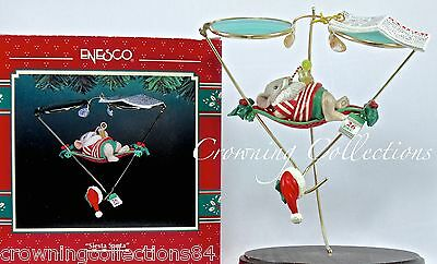 Enesco Mice Siesta Santa Treasury of Christmas Ornament Spectacles Series 5th #5