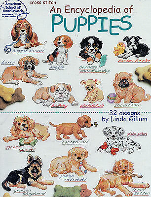 Cross Stitch Pattern An Encyclopedia of Puppies Puppy Dogs 32 Designs Retriever