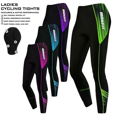 Ladies Cycling Tights Padded Women Leggings Cycle Tights / Trousers Anti-Bac Pad