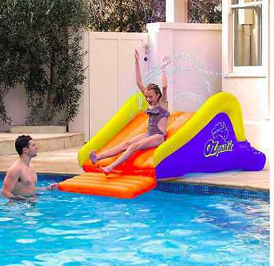Inflatable Floating Water Slide For Pool, New Kids Summer Party Fun Toys