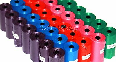 2000 Color DOG PET WASTE POOP BAGS 100 REFILL ROLLS with Core Petoutside USA