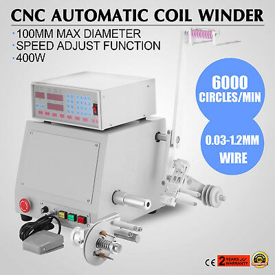 110V Computer CNC Automatic Coil Winder Winding Machine For 0.03-1.2Mm Wire 400W