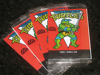 Teenage Mutant Ninja Turtles Leonardo Cartoon Card Wrapper Regina 1989 TMNT Rare