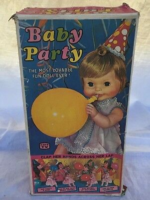 Triang Baby Party Tri Ang Moldex Doll Vintage Old Boxed Melbourne De Luxe Topper