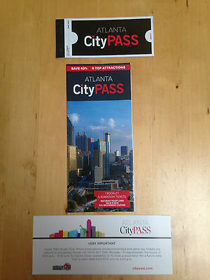 CITYPASS Atlanta tickets attractions BRAND NEW