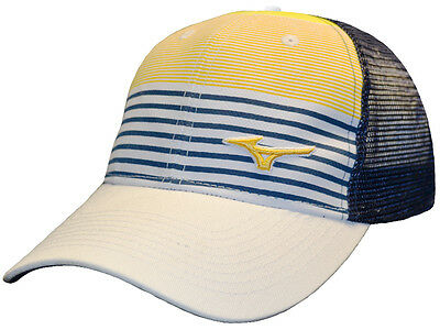Mizuno RB Stripe Mesh Cap - White/Gold/Navy
