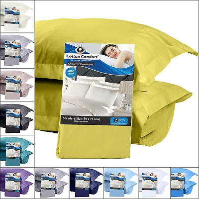 Luxury 100% Egyptian Cotton 400 Thread Count Pillow Cases Pack Of 2