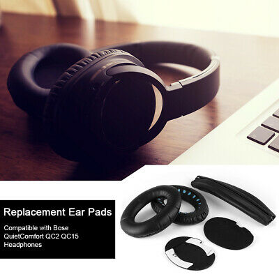 Perfect Fit Replacement EarPads Headband Cushion for Bose QC15 Headset TH563