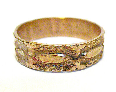VICTORIAN GOLD FILLED ETERNITY RING BAND SIZE 7.75 5 mm wide 2 GRAMS