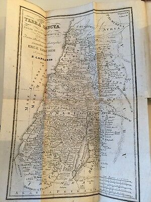 Antique Map of Israel AND Torah Book - 1859