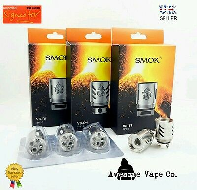 AUTHENTIC SMOK TFV8 Q4 Coils 1st Class Recorded Delivery Fast n Free