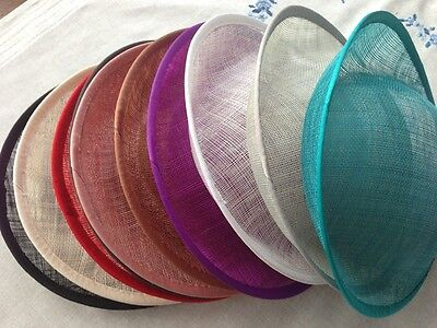 Hat Sinamay Dipped  Base 25*24.5 cm Great for making fascinators/party hats