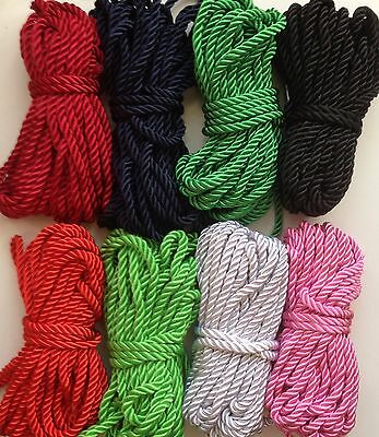 5 mm Twisted Soutache Braid  Braided Cord Rope Piping Cushion Edging 1/3/5 yards