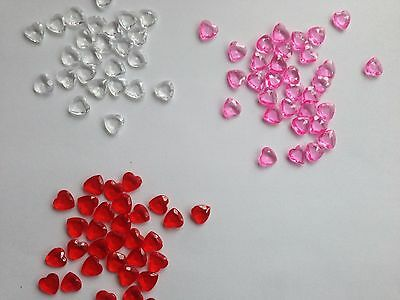Scatter Table Confetti/Decorations/Crystal/Diamond 9 mm Heart shaped