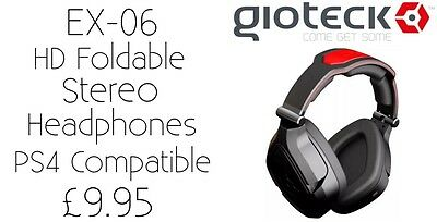 Gioteck EX-06 Foldable High Definition Stereo Headphones New Ps4 Compatible