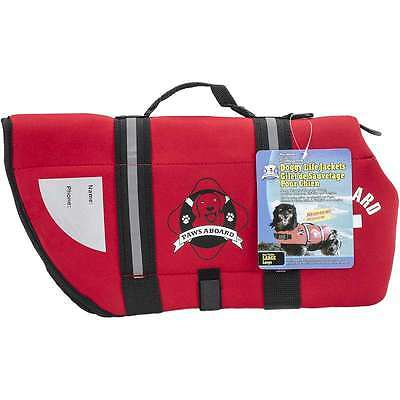 Paws Aboard Neoprene Doggy Life Jacket Large-Red 187277000565