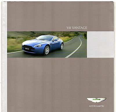 Aston Martin V8 Vantage Coupe 2006 UK Market Sales Brochure