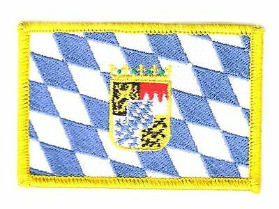 Aufnäher Freistaat Bayern Wappen Patch Flagge Fahne