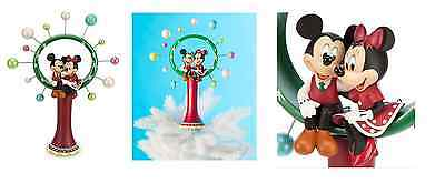 Disney Store MICKEY & MINNIE HOLIDAY CHRISTMAS TREE TOPPER NEW IN BOX