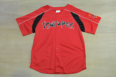 Isotopes - Size XL - Vintage Red Button Up Baseball Jersey, Shirt