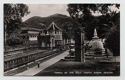 POSTCARD - Ceylon Sri Lanka, Temple of the Holy Tooth, Kandy, real photo