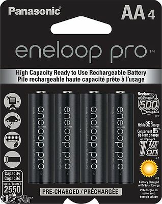Panasonic Eneloop Pro AA High Capacity Ni-MH Pre-Charged Rechargeable Battery 4p