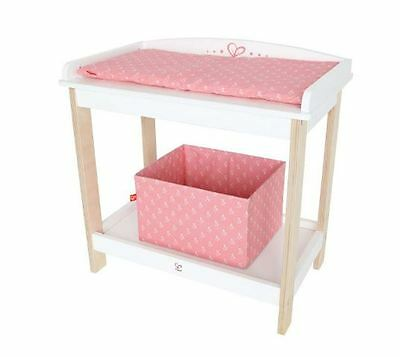 Brand New Hape Toys Dolls White Pink Wooden Changing Table change table Timber
