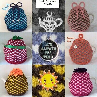 Hand Knitted Medium / Large Jacquard Tea Cosy / Cozy in Various Colours