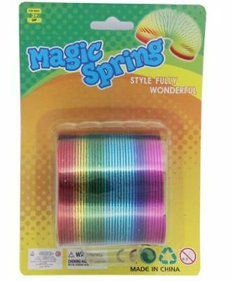 12.5cm LARGE RAINBOW SPRING COIL SLINKY FUN KIDS TOY MAGIC STRETCHY BOUNCING NEW