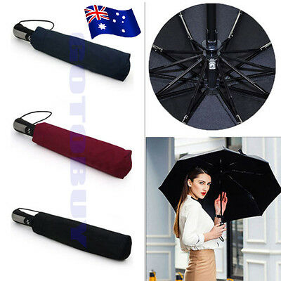 Hot Automatic Folding Umbrella Windproof Compact With 10 Fiberglass Frames BO